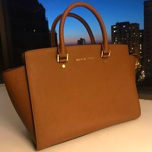Michael Kors Camel Colored Leather Bag